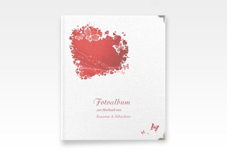 """Hochzeitsalbum """"Mailand"""" 21 x 25 cm rot"""