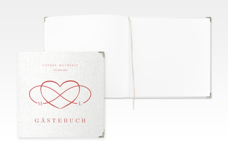 """Gästebuch Selection Hochzeit """"Infinity"""" Hardcover rot"""