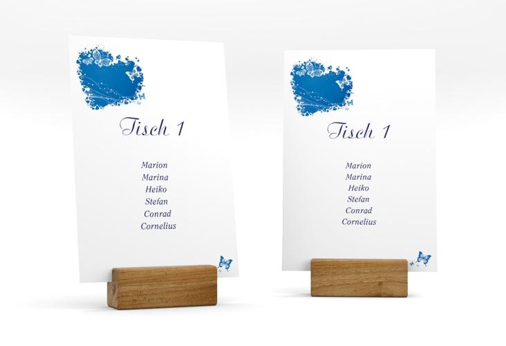 """Tischaufsteller Hochzeit """"Mailand"""" Tischaufsteller blau"""