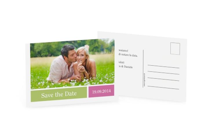 Biglietti Save the Date collezione Nizza A6 Postkarte