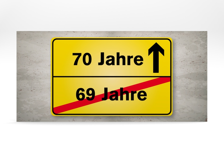 """Einladungskarte """"Julian/Juliane"""" DIN lang"""