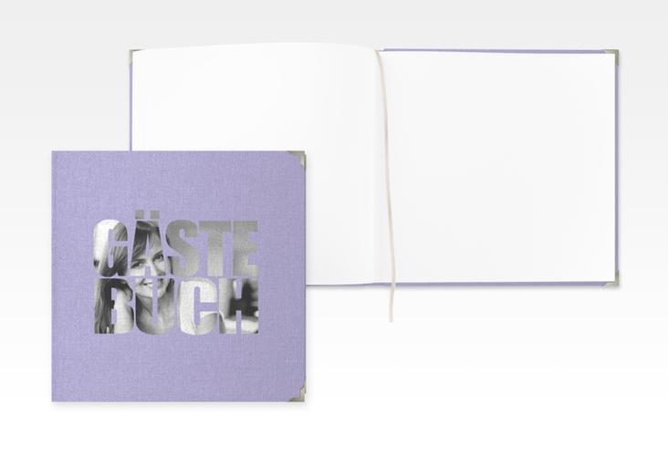 """Gästebuch Selection Geburtstag """"Jahreszahl"""" Leinen-Hardcover flieder"""