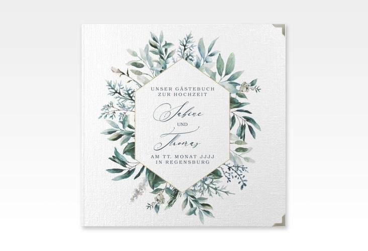 "Gästebuch Selection Hochzeit ""Lumiere"" Leinen-Hardcover weiss"