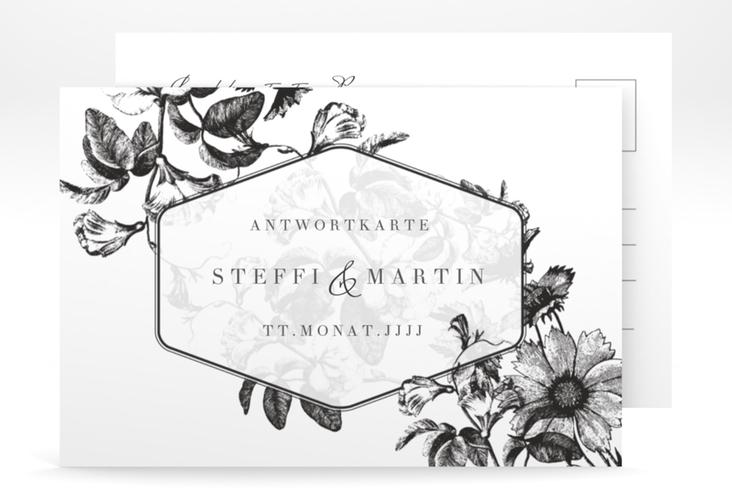 """Antwortkarte Hochzeit """"Magnificent"""" A6 Postkarte"""