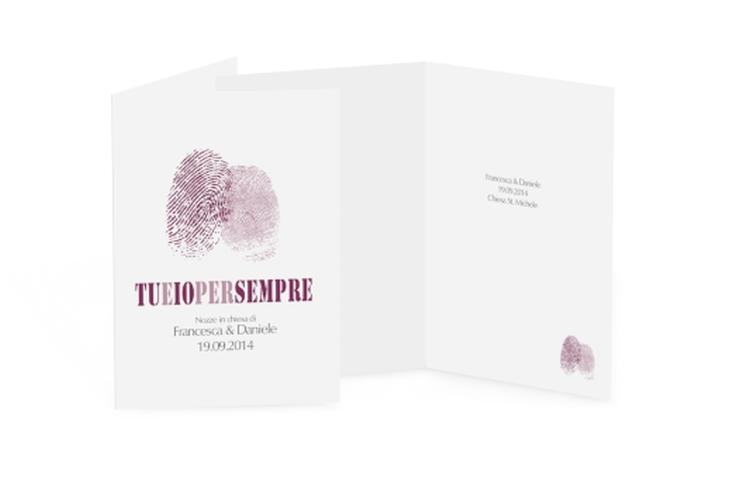 Libro messa matrimonio collezione Messina DIN A5 geklappt lila