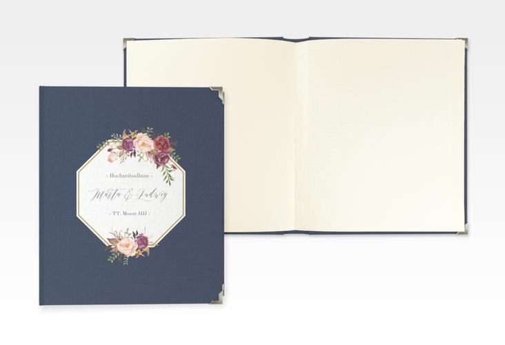 """Hochzeitsalbum """"Prachtvoll"""" 21 x 25 cm blau"""