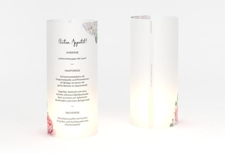 """Windlicht Menü Hochzeit """"Primavera"""" Windlicht weiss"""