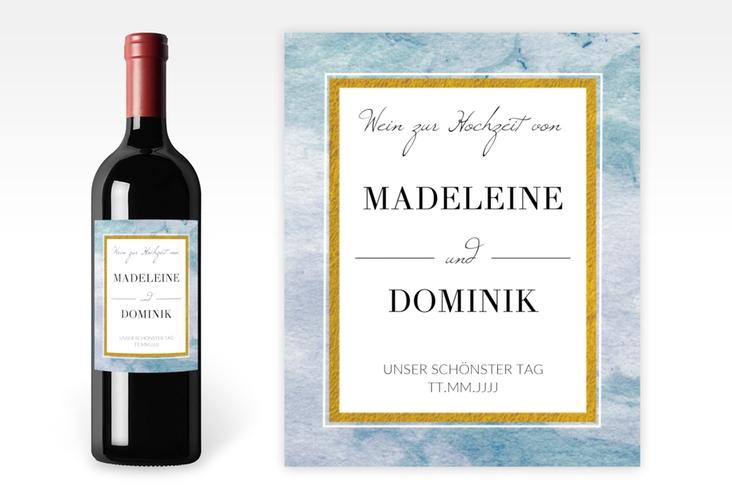 """Weinetikett zur Hochzeit """"Marble"""" Etikett Weinflasche 4er Set"""