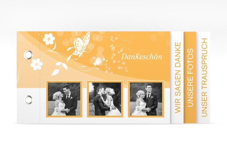 """Danksagungskarte Hochzeit """"Verona"""" Booklet orange"""