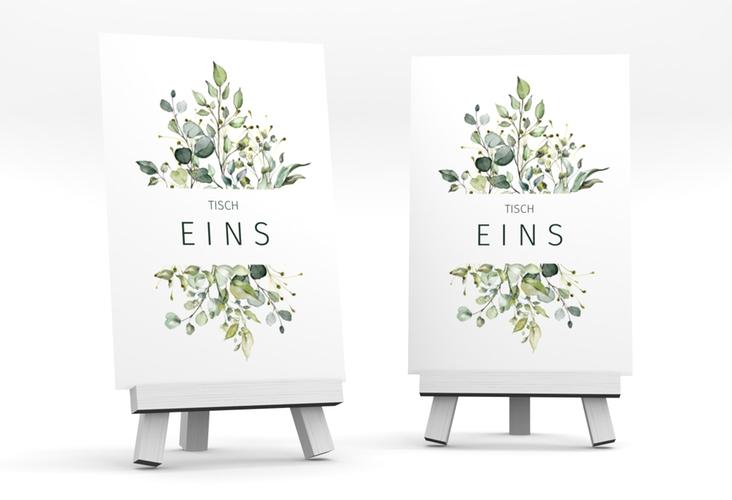 """Tischnummer Hochzeit """"Enchanting"""" Tischaufsteller weiss"""