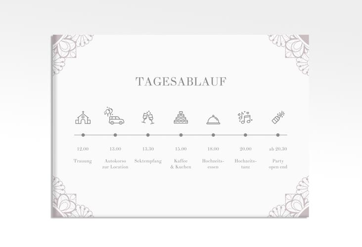 """Tagesablauf Leinwand Hochzeit """"Nostalgie"""" 70 x 50 cm Leinwand flieder"""