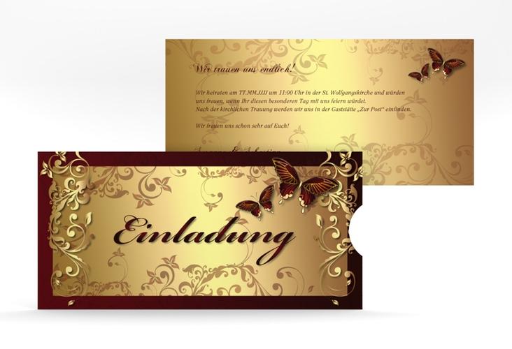 """Hochzeitseinladung """"Toulouse"""" Einsteckkarte rot"""