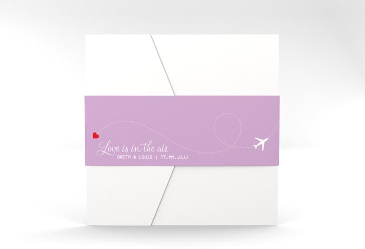 """Hochzeitseinladung """"Weddingpass"""" Pocketfold flieder"""