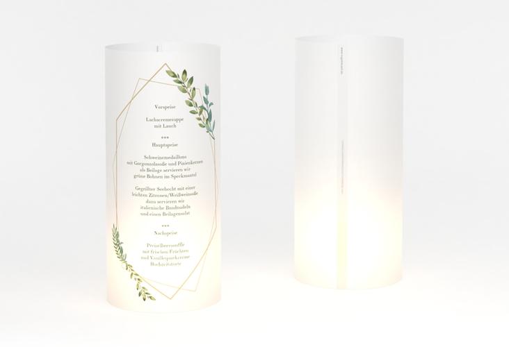 """Windlicht Menü Hochzeit """"Herbarium"""" Windlicht gold"""