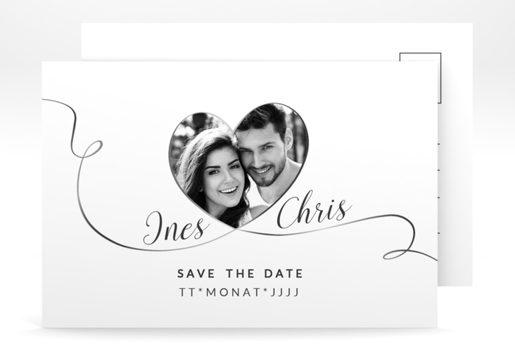 """Save the Date-Postkarte """"Dolce"""" A6 Postkarte weiss"""