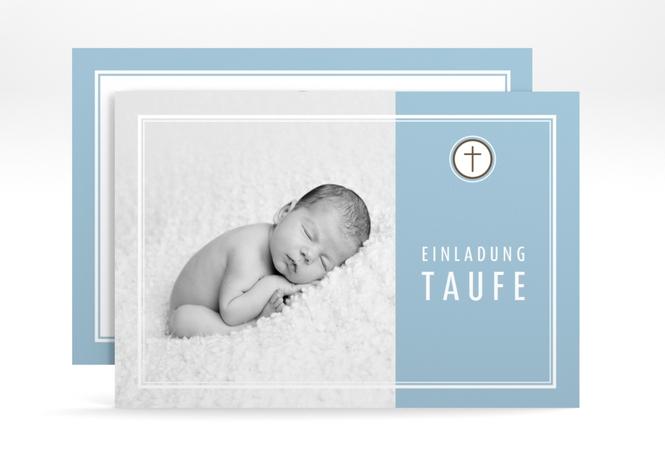 """Einladungskarte Taufe """"Belle"""" A6 Karte"""