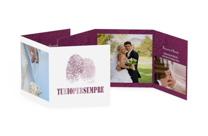 Ringraziamenti matrimonio collezione Messina Quadr. Karte doppelt