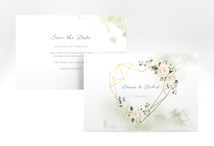 "Save the Date-Karte ""Adore"" A6 quer"