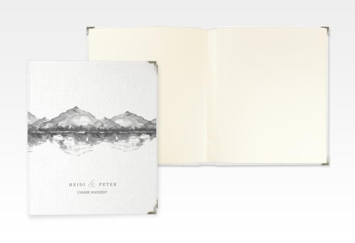 "Hochzeitsalbum ""Bergliebe"" 21 x 25 cm grau"