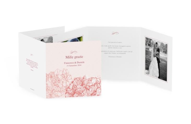 Ringraziamenti matrimonio collezione Marbella Quadr. Karte doppelt