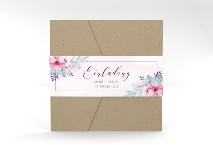 """Hochzeitseinladung """"Surfinia"""" Pocketfold rosa"""