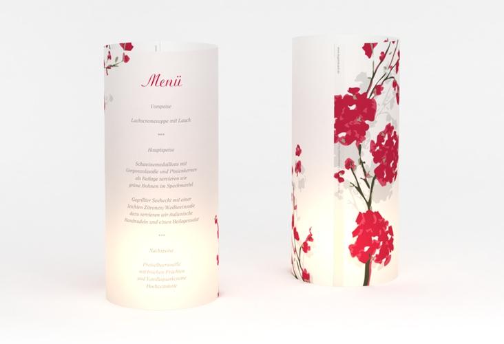 """Windlicht Menü Hochzeit """"Salerno"""" Windlicht rot"""