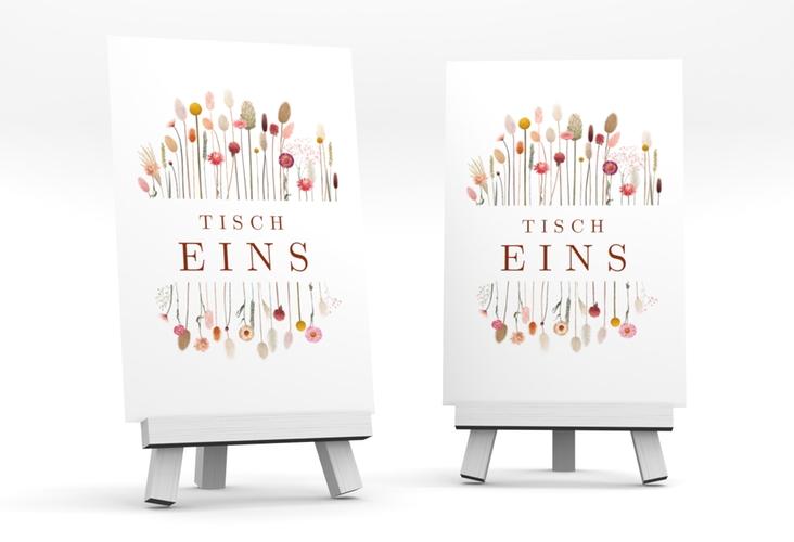 """Tischnummer Hochzeit """"Driedflower"""" Tischaufsteller"""