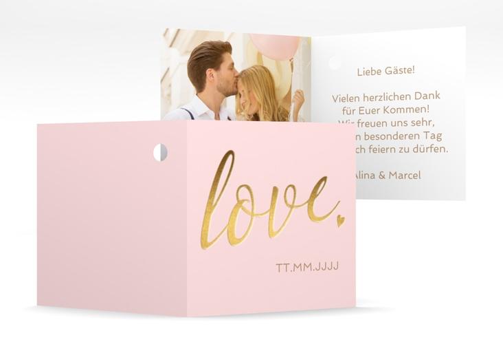 """Geschenkanhänger Hochzeit """"Glam"""" Geschenkanhänger 10er Set rosa"""