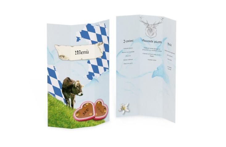Menù matrimonio collezione Alpi DIN A4 Wickelfalz