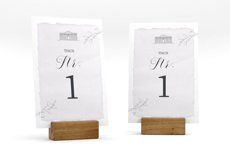 """Tischnummer Hochzeit """"Villa"""" Tischaufsteller"""