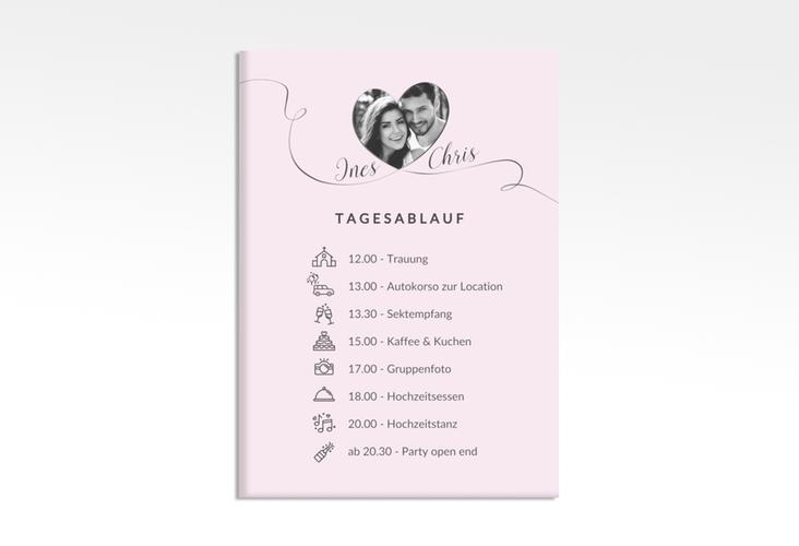 "Tagesablauf Leinwand Hochzeit ""Dolce"" 50 x 70 cm Leinwand rosa"