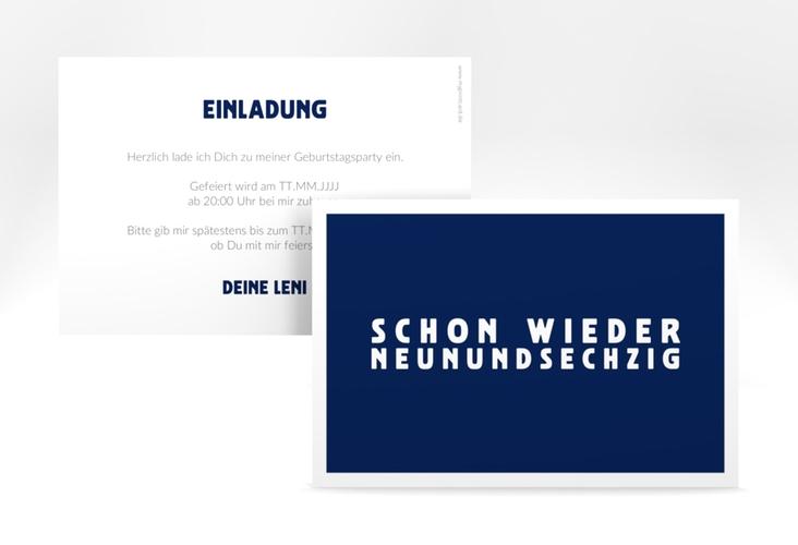 "Einladungskarte ""Gag"" A6 quer blau"