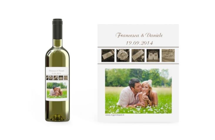Etichette vino matrimonio collezione Valencia Etikett Weinflasche 4er Set