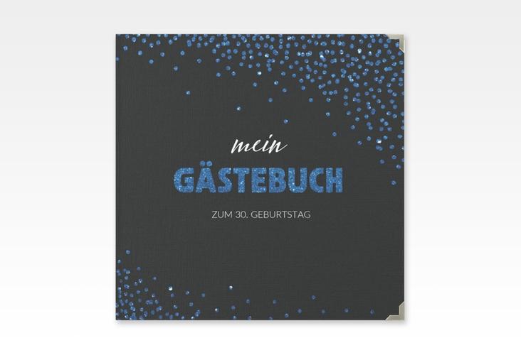 """Gästebuch Selection Geburtstag """"Glitzer"""" Leinen-Hardcover blau"""