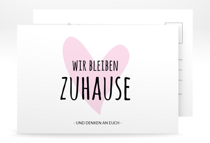 "Grußkarte ""Herzilein"" A6 Postkarte rosa"