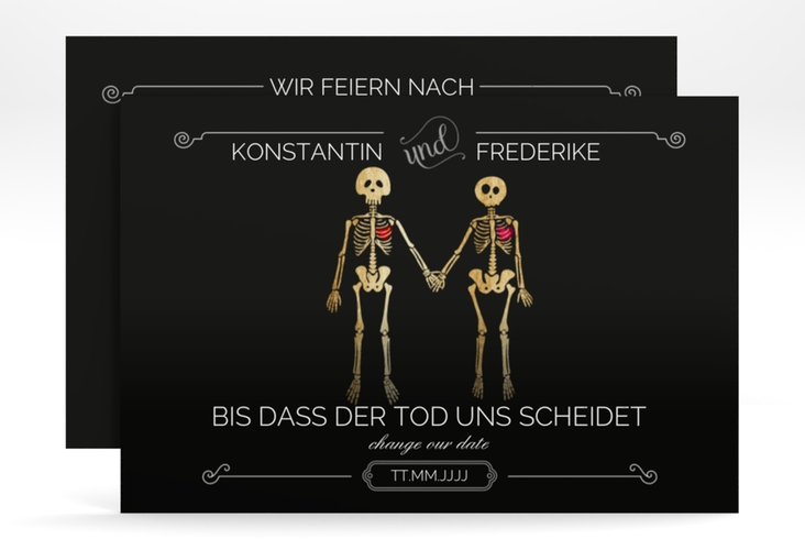 "Change the Date-Karte ""Bones"" A6 quer"