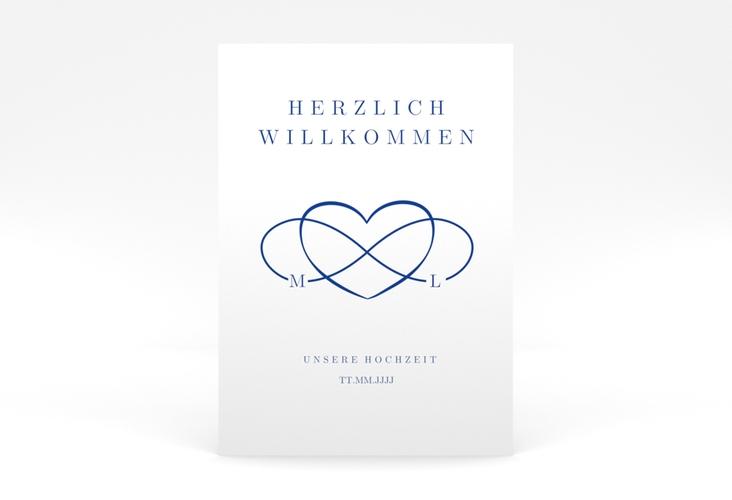 "Willkommensschild Poster ""Infinity"" 50 x 70 cm Poster"