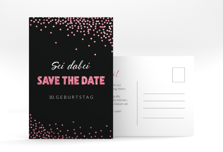 "Save the Date-Postkarte  ""Glitzer"" A6 Postkarte"