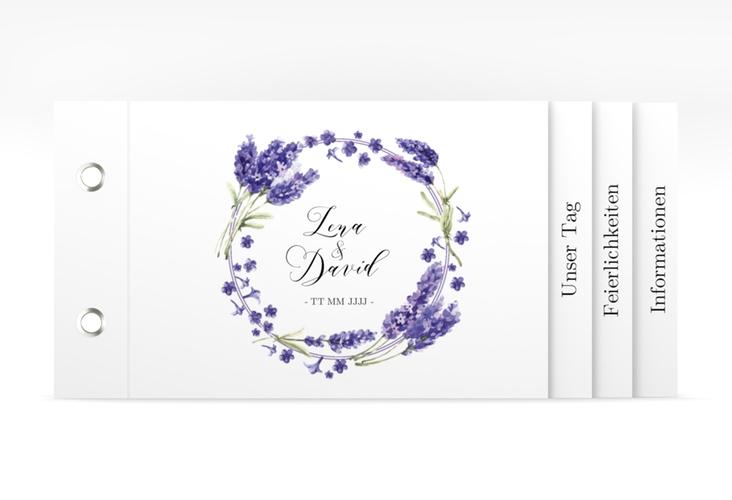 """Hochzeitseinladung """"Lavendel"""" Booklet"""