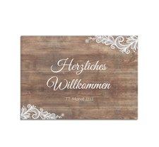 """Willkommensschild Hochzeit """"Spitze"""""""