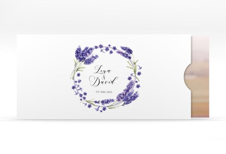 """Hochzeitseinladung """"Lavendel"""" Einsteckkarte"""
