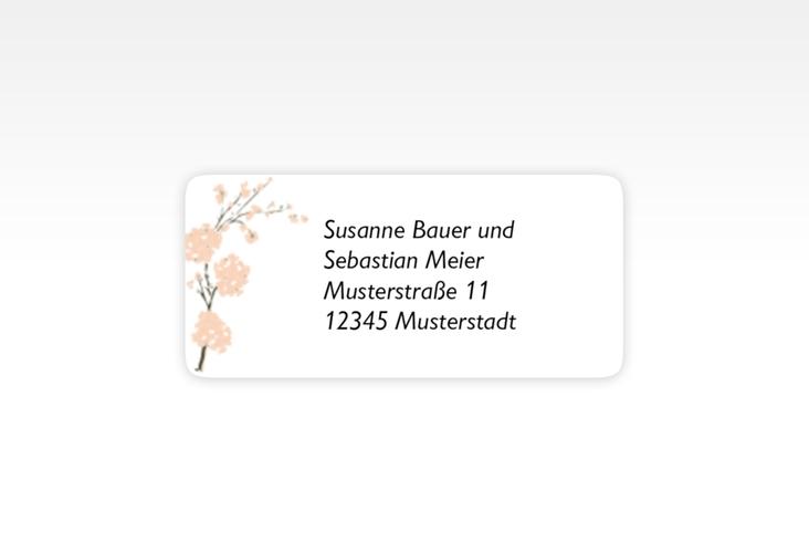 """Absenderetikett Hochzeit """"Salerno"""" 45,7 x 21,2 mm apricot"""
