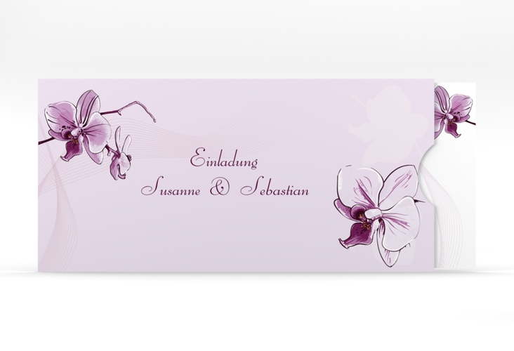 """Einladung Hochzeit """"Modena"""" Einsteckkarte lila"""