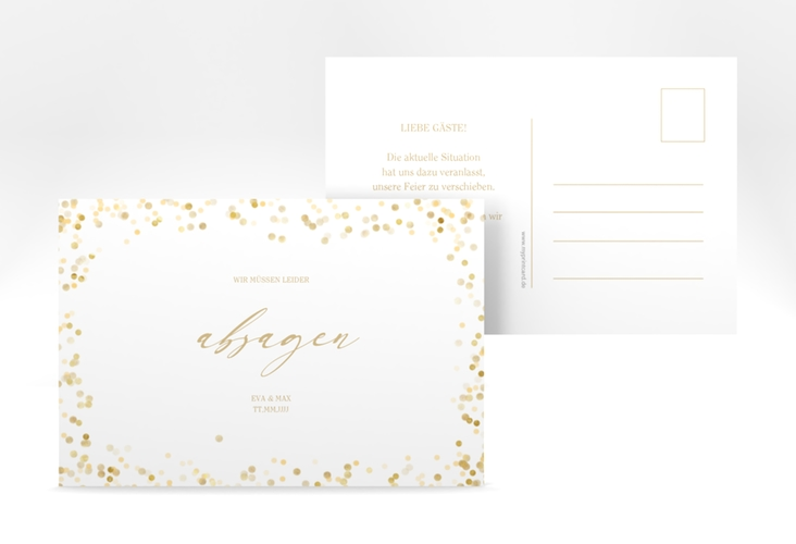 "Absagekarte ""Festive"" A6 Postkarte"