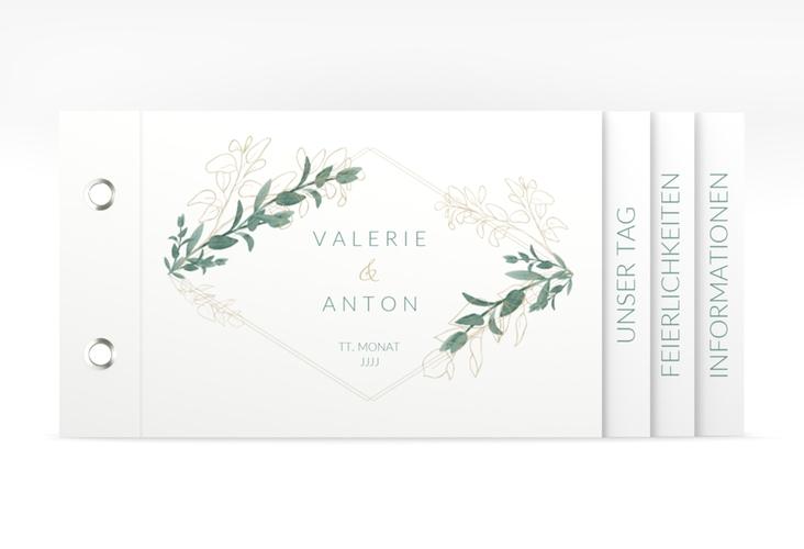 """Hochzeitseinladung """"Verde"""" Booklet"""