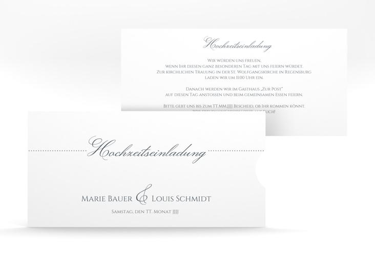 """Hochzeitseinladung """"Pure"""" Einsteckkarte"""