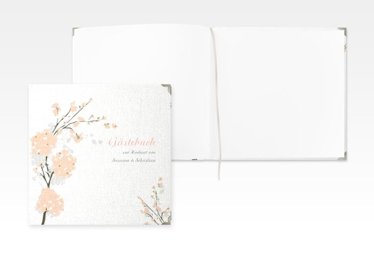"""Gästebuch Selection Hochzeit """"Salerno"""" Leinen-Hardcover apricot"""