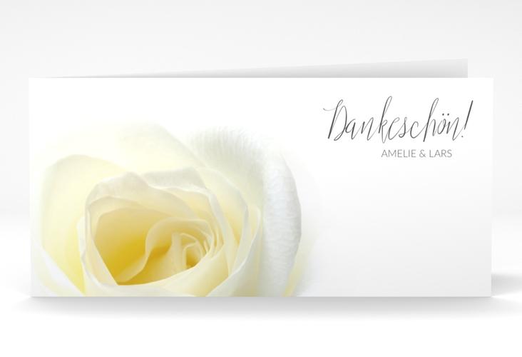 "Danksagungskarte Hochzeit ""Rose"" DIN lang Klappkarte"