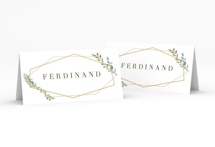 """Tischkarte Hochzeit """"Herbarium"""" Tischkarten gold"""