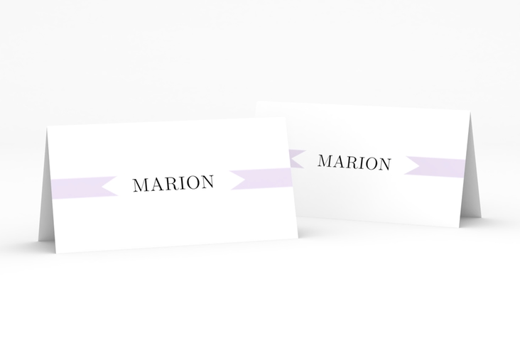 """Tischkarte Hochzeit """"Tender"""" Tischkarten flieder"""
